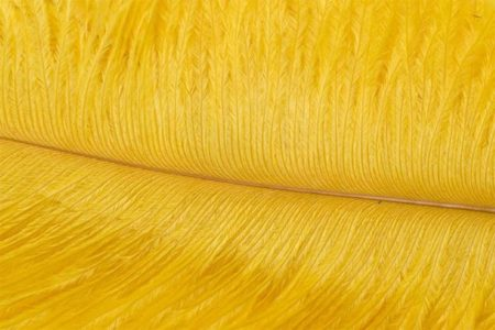 Fly Tying Ostrich Feathers 10-12 inch - Sunburst Yellow