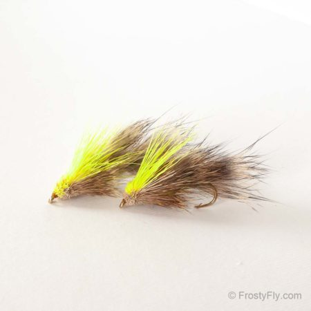 Furry Muddler Fly - Chartreuse