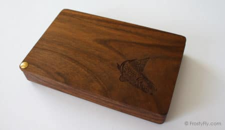 Drina River Solid Walnut Wooden Streamer Fly Box