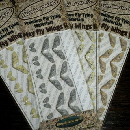 Hemingway's Realistic Mayfly Wings - 2 Pairs - Front & Back Wings