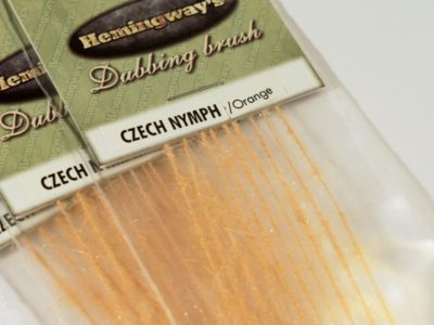 Hemingway's Czech Nymph Dubbing Brush - Orange